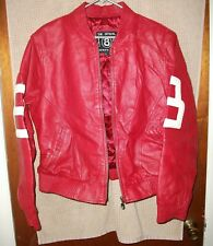 The Official 8 Ball Authentic Goods Red Leather Jacket Size 3XL