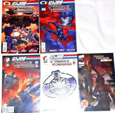 GI JOE vs Transformers COMICS Action Figure Vintage Books 5 Issues LOT
