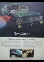 "1968 ZB FORD FAIRLANE 500 AD A1 CANVAS PRINT POSTER FRAMED 33.1""x23.4"""