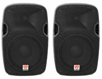 "(2) Rockville SPGN128 12"" Passive 2400 Watt DJ PA Speakers ABS Cabinets 8-Ohm"
