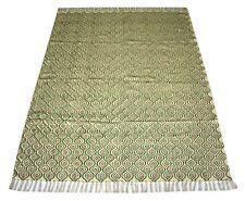 Persian Traditional Block Print Cotton Rug Floral 4.5x6 Feet Area Rag DN-1651
