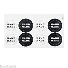 10Sheets Festival Retro Handmade Round Adhesive Stickers DIY Paper Tags