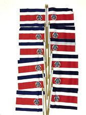 "12 Costa Rica Small 4"" X 6"" Country Stick Flags Banner with 10 Inch Plastic Pol"