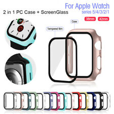 Screen Protector Shockproof PC Hard Cover Case for Apple Watch Series 5 4 3 2 1