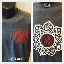 Monogram Shirt Left Chest Initials Personalized New Back Monogram Design