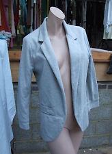 UK 10 /US 8 Dlighgtful Open Fully Lined Long Sleeve Grey Jacket