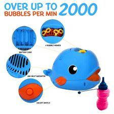 2 Shark Bubble Machine, Automatic Durable For Kids -Maker 2000+ Bubbles