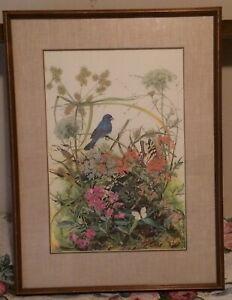 Original Sallie Ellington Middleton Limited  Edition Color Birds Print