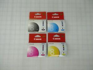 New Genuine Canon CLI8 CLI-8 Black/Cyan/Magenta/Yellow Ink Cartridge