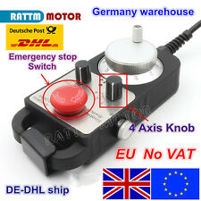 【EU】 4 Axis Electronic Handwheel MPG Pendant+Emergency Stop for CNC Router/Lathe