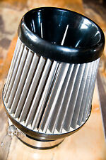 stainless steel double induction conic air filter sus blitz hks apexi bmc jr kn