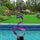 Large Metal Art Garden Sculpture Modern Purple Yard Decor  Artist Jon Allen