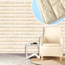 USA Sale 3D Brick Soft Foam Thicken Wall Sticker Panels Wallpaper Decal 60x60cm