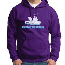 Watch Out For Ice Holes Funny T-shirt Polar Bears Winter Humor Hoodie  Sweatshirt e112105091ab