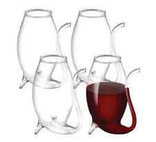 PORT SIPPERS Set 4 Glass Decanter Gift Boxed White Red Wine Pipe Liqueurs