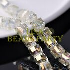New 5pcs 14mm Big Cube Square Crystal Glass Loose Spacer Beads Crystal Yellow