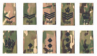 Pair Black on Multicam / MTP Match RGR Royal Gurkha Rifles Rank Slides
