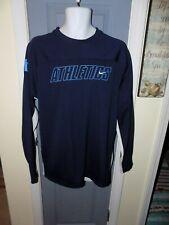 Nike Athletics Blue Long Sleeve Graphic Pullover Size L Men's Euc