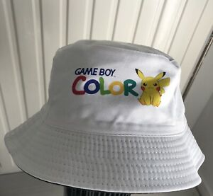 Bob chapeau Blanc Game Boy Color Pikachu Lorenzo Mamene , rap Taille Adultes