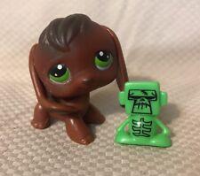 Littlest Pet Shop~#77~Beagle~Puppy Dog~Chocolate Brown~Green Dot Eyes