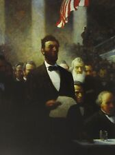 Vintage Art N C Wyeth Saved Union Lincoln 2nd Inaugural Address Courier Civil