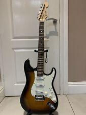 More details for fender squier stratocaster guitar sunburst