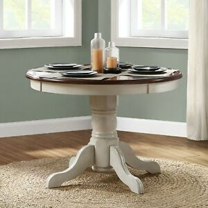 Round Pedestal Dining Table Classic Solid Wood Traditional Style Décor Furniture