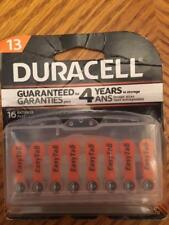 16 Duracell Size 13 Hearing Aid Batteries (with EasyTabs) - Expiration 2020