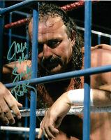 Alice Cooper Jake the Snake Roberts Jimmy Hart Signed WWE 8x10 Photo PSA//DNA COA