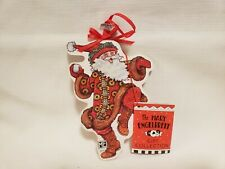 Mary Engelbreit Jolly Santa Wood Christmas Ornament Midwest Of Fall New With Tag