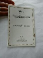 More details for     shaw savill line   southern cross sectional plan staple  rust noted