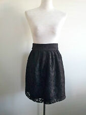 Flirty Look! Oxford Women size 8 lined black lace skirt in excellent condition
