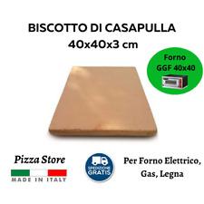 BISCOTTO DI CASAPULLA 40x40X3 - PIETRA REFRATTARIA PER PIZZA FORNO ELETTRICO GAS