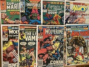 WHAT IF? & Adventure Into Fear ~ Lot Of 9 - Wolverine, Morbius, Man-Thing