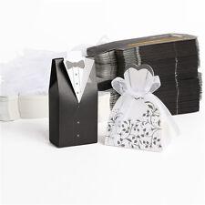 Wedding Bomboniere Cake Candy Favour Boxes Dress & Tuxedo Bride Groom AY