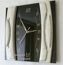 Wall clock contemporary style fashion brand home office interior black white art