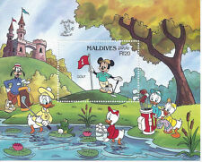 MALDIVES: 1990 Souvenir Sheet, Golf at St. Andrews by Mickey & Friends (Sc 1407)