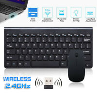 Slim 2.4G Wireless Keyboard and Cordless Optical Mouse Combo For Mac PC Laptop