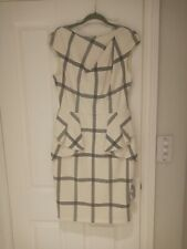 Karen Miller White and Grey Dress Size 14UK