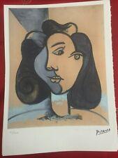 Picasso Lithographie 38.5 X 28.5 cm Signature Timbre Spadem 1995 Ed 250 Pic036