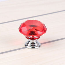 Crystal Diamond Drawer Door Knob Handle w/ Screws 4size Home Glass Cabinet Decor