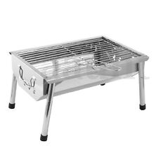 Stainless Steel Portable Outdoor Camping Tabletop Barbecue Grill BBQ Cooking USA