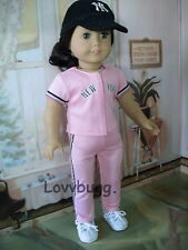 "Pink Baseball Yankees with Hat for 18"" American Girl Doll Clothes The Low Price!"