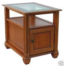 New Display End Table  Shelf Door Nutmeg Cherry Finish