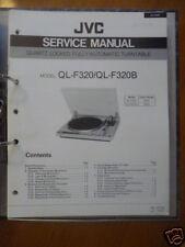 Manual de servicio para JVC ql-f320 Tocadiscos, original