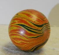 #13090m Rare Vintage Handmade Paper Mache Gutta Percha Marble .90 Inches