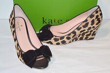fdc72231d5a New  258 kate spade Roberta Amaretto Black Leopard Print Haircalf Velvet  Wedge
