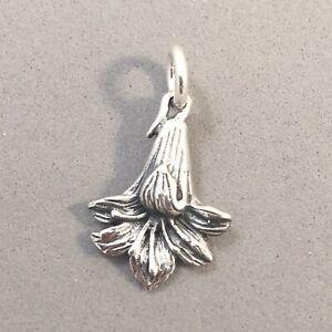 .925 Sterling Silver GENTIAN FLOWER Charm Alpine Austria Violet NEW 925 GA57