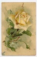 C. KLEIN . Les fleurs . ROSES . Flowers . Embossed. Gaufré