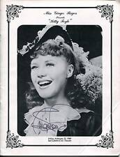 "GINGER ROGERS MOVIE ACTRESS SINGER DANCER SIGNED ""KITTY FOYLE"" PROGRAM AUTOGRAPH"
